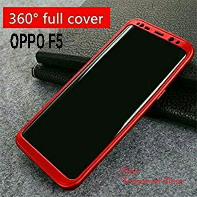 official photos 776e9 a8d92 OPPO F5/F5 YOUTH 360 FULL BODY PROTECTIVE CASE WITH FREE TEMPERED GLASS