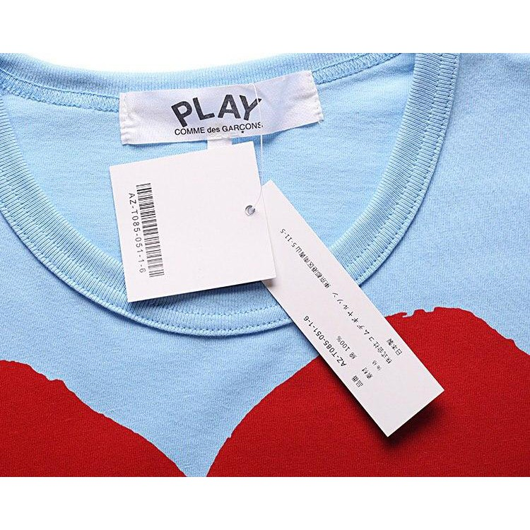 COMME des Garcons 8017BLUE CDG PLAY Premium Heart Pure Cotton#T-Shirt#