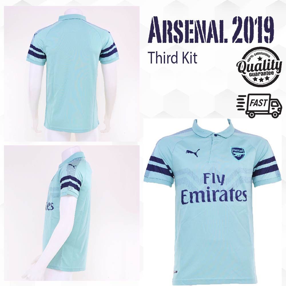 lowest price ade7e 75c73 [READY STOCK] ARSENAL 3RD KIT 2018/19 FAS ISSUE JERSEY