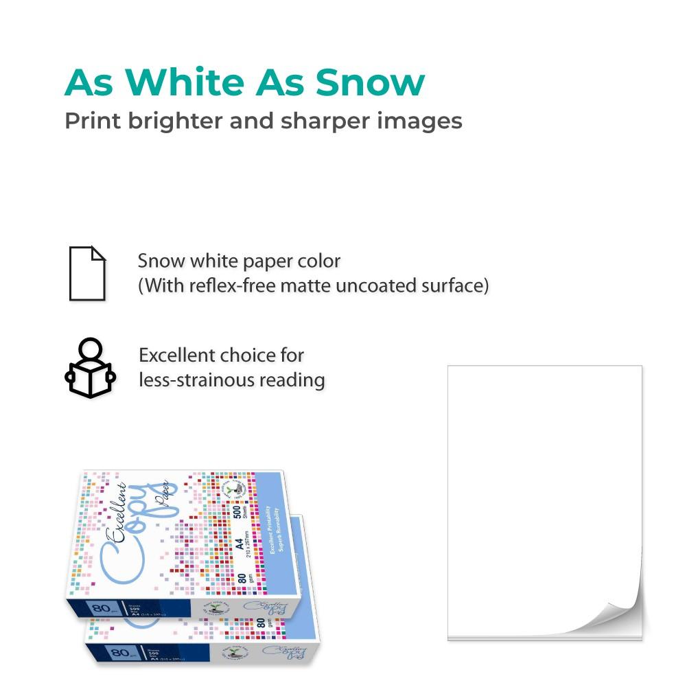 Excellent Copy A4 Paper (80gsm x 500's x 2 Ream)