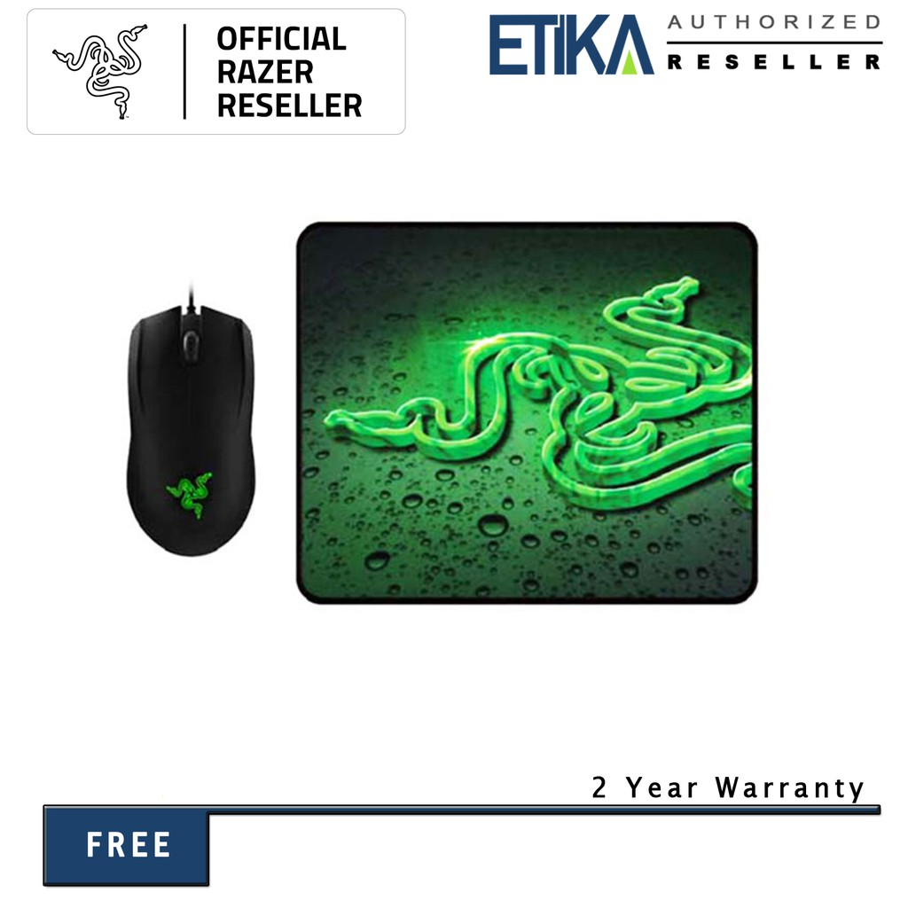 Razer DeathAdder Elite Multi-Colour Gaming Mouse with Firefly Hard Gaming Mouse Mat Bundle
