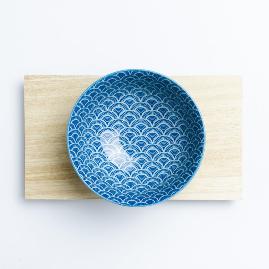 12.5cm Japanese Blue Wave Japanese Style Ceramic Porcelain Bowl Soup Bowl 日式古典风陶瓷碗