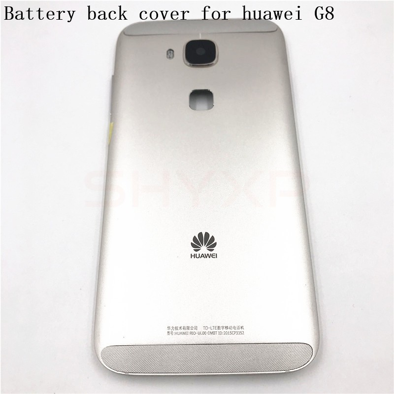 half off c8e8a 1523b Metal Battery Housing Door Back Cover Case For Huawei G8 GX8+Volume Power  Button