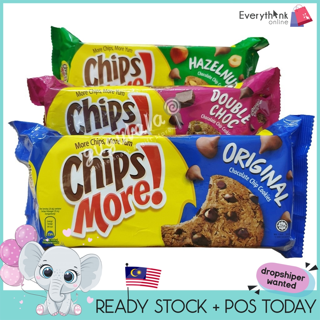 READY STOCK CHIPSMORE 163.2g -ORIGINAL/DOUBLE CHOCOLATE
