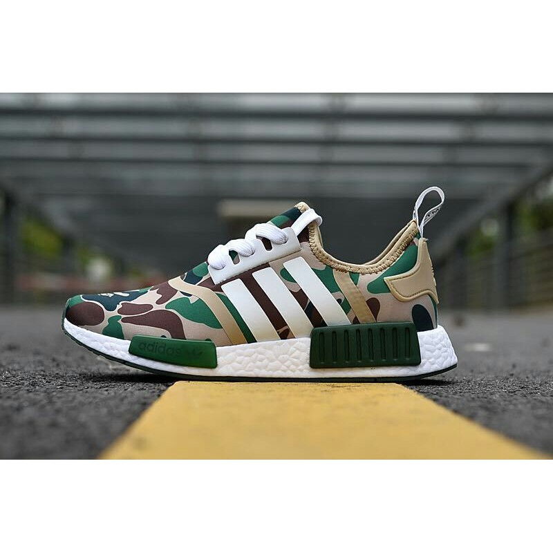 98a00af9b Adidas NMD R1 Bape Green Camo