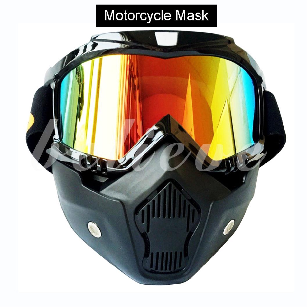 0747fabcb85e8 New Motorcycle Riding Face Mask Mouth Filter with Goggles for Open Face  Helmet
