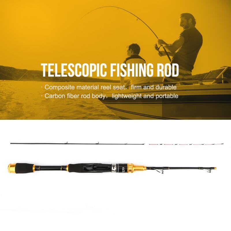 Telescopic Ultralight Spinnning//Casting Carbon Fiber Fishing Lu Ya Rod Angling