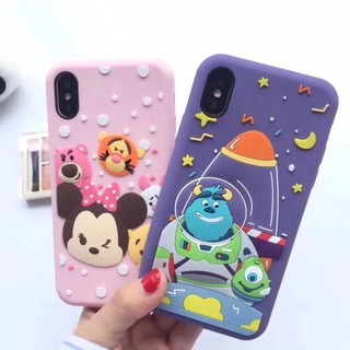 comprare on line 60810 f6efd Cartoon iPhone X 6 6s 7 8 plus Casing Silicone 3D Disney Phone Back Cover