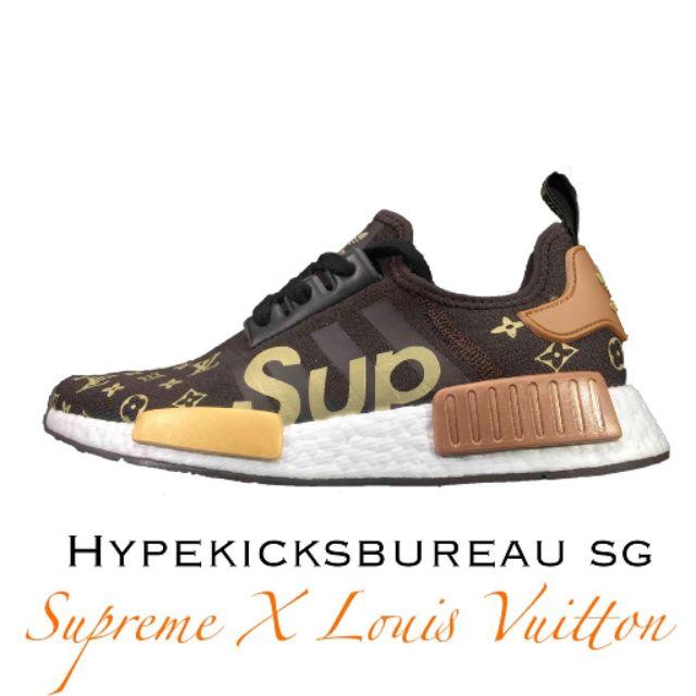 b4ca268ac6d39 Bnqi Ready Stock Adidas BAPE x adidas Hu NMD Boost Human jogging shoes