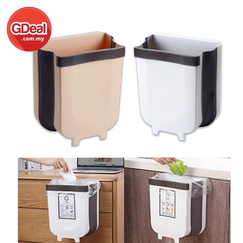 GDeal Table Hanging Folding Kitchen Trash Bucket Vehicle Dustbin Tong Sampah توڠ سمڤه
