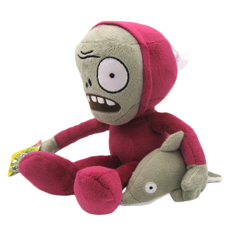 1 pc 30cm PVZ Plants vs Zombies 2 Dolphin Rider Zombie Plush Toys Soft Stuffed