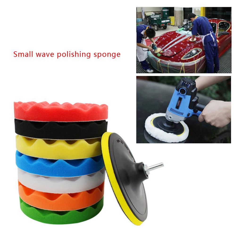 "31 3/"" Car Polish Polishing Pads Sponge Wool Buffing Waxing Pad Kit Drill Adapter"