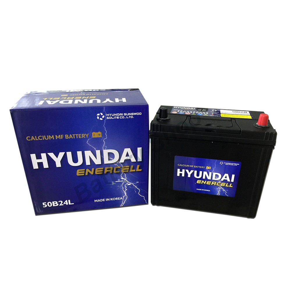 Hyundai Enercell 50B24L with Terminal head car battery for Proton