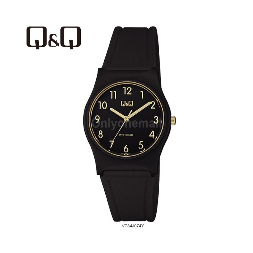 Q&Q VP34J074Y Ladies 33mm Casual Analogue Watch 100m Water Resistance