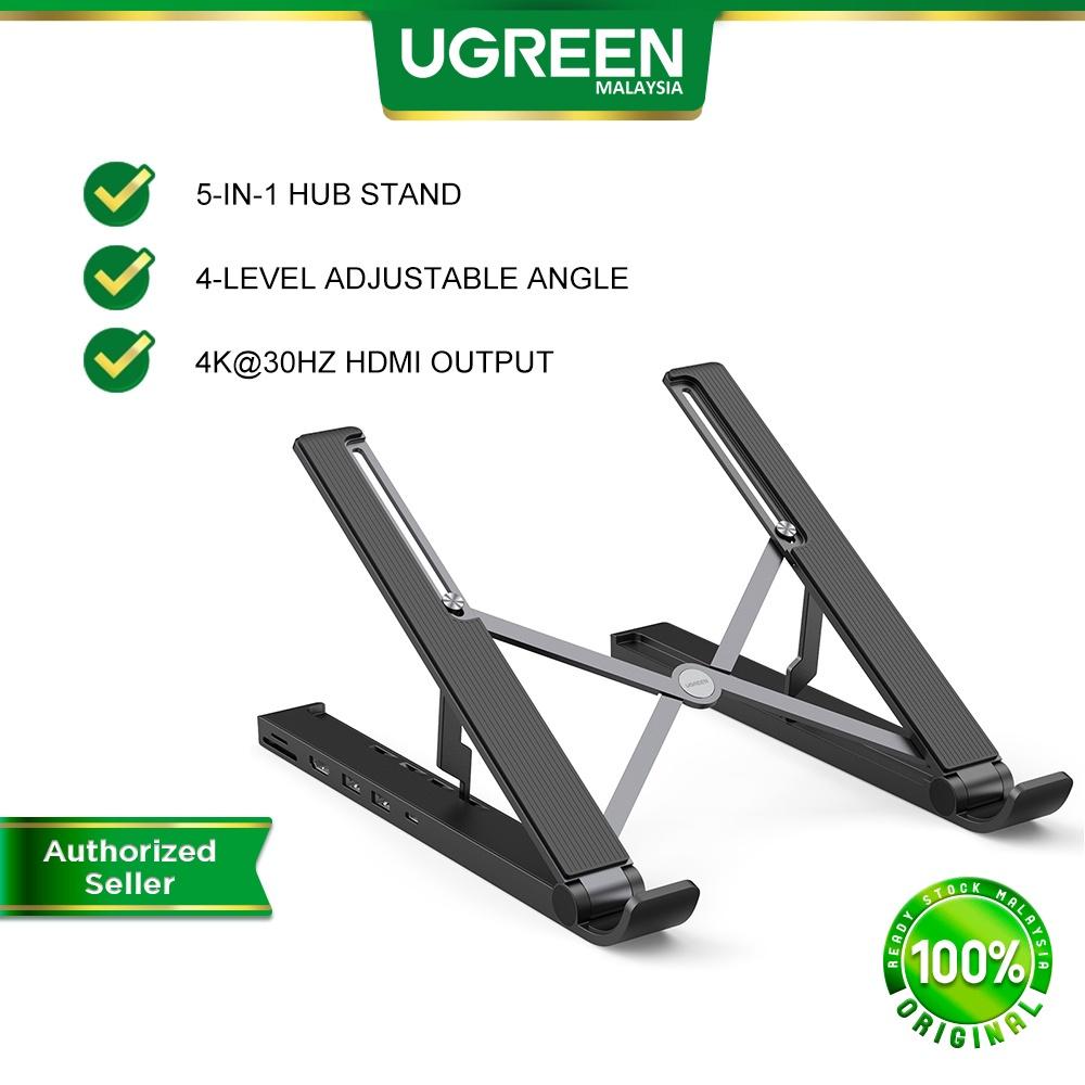 UGREEN X-kit USB C Laptop Hub Portable Desktop Stand USB C 4K HDMI TF SD 2 USB 3.0 Ports Macbook HP Dell