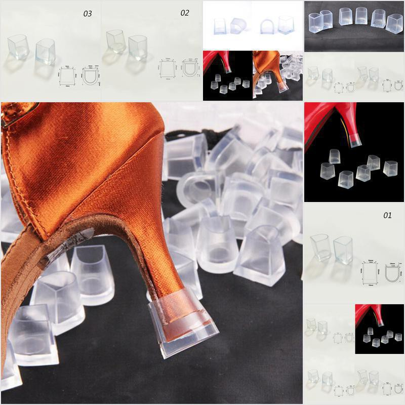 1-5 Pairs Clear Wedding High Heel Shoe Protector Stiletto Cover Stopp rE