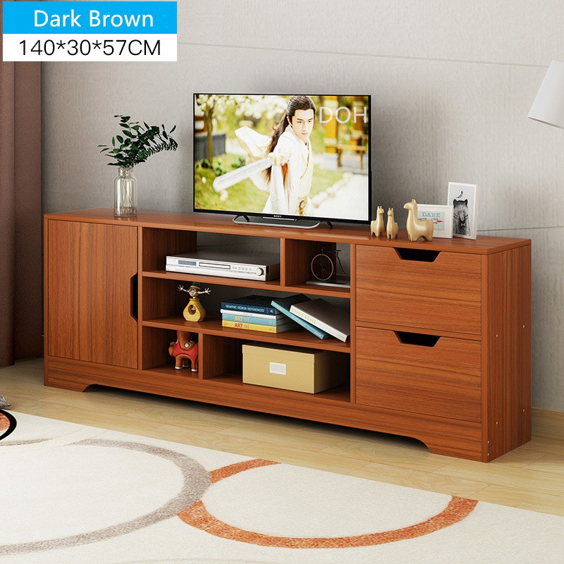 Modern Wood Living Room TV Cabinet Home Office Hotel TV Rack Entertainment  Unit Drawer Storage 140cm