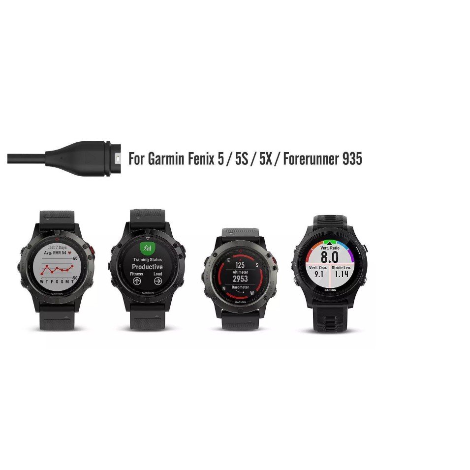 Garmin Fenix 5 5S 5X Forerunner 935 Charging Cable, Data Sync Charging Cable