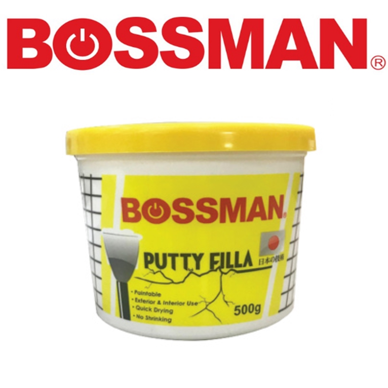 READY STOCK !BOSSMAN PUTTY FILLER CLAY POWERFUL EPOXY ADHENSIVE FILLING CRACKS & HOLES 0.5KG & 1.5KG