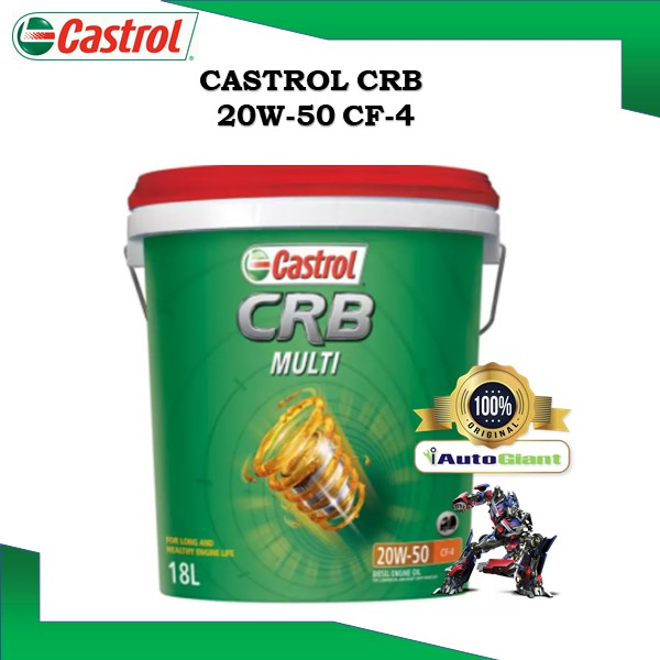 CASTROL CRB MULTI 20W50 CF-4, 18L, PAIL DIESEL ENGINE OIL (100% ORIGINAL)