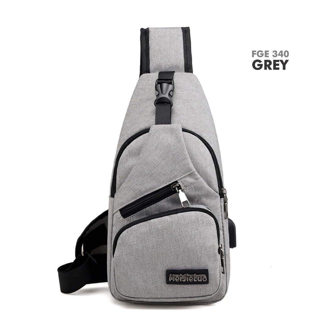 AFGY FGE 340 STYLISH CHEST BAG WITH USB PORT