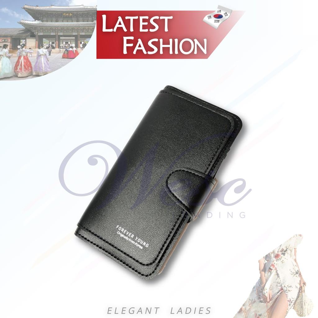 Korean Designer Fashion Latest Design Long Purse (Black)