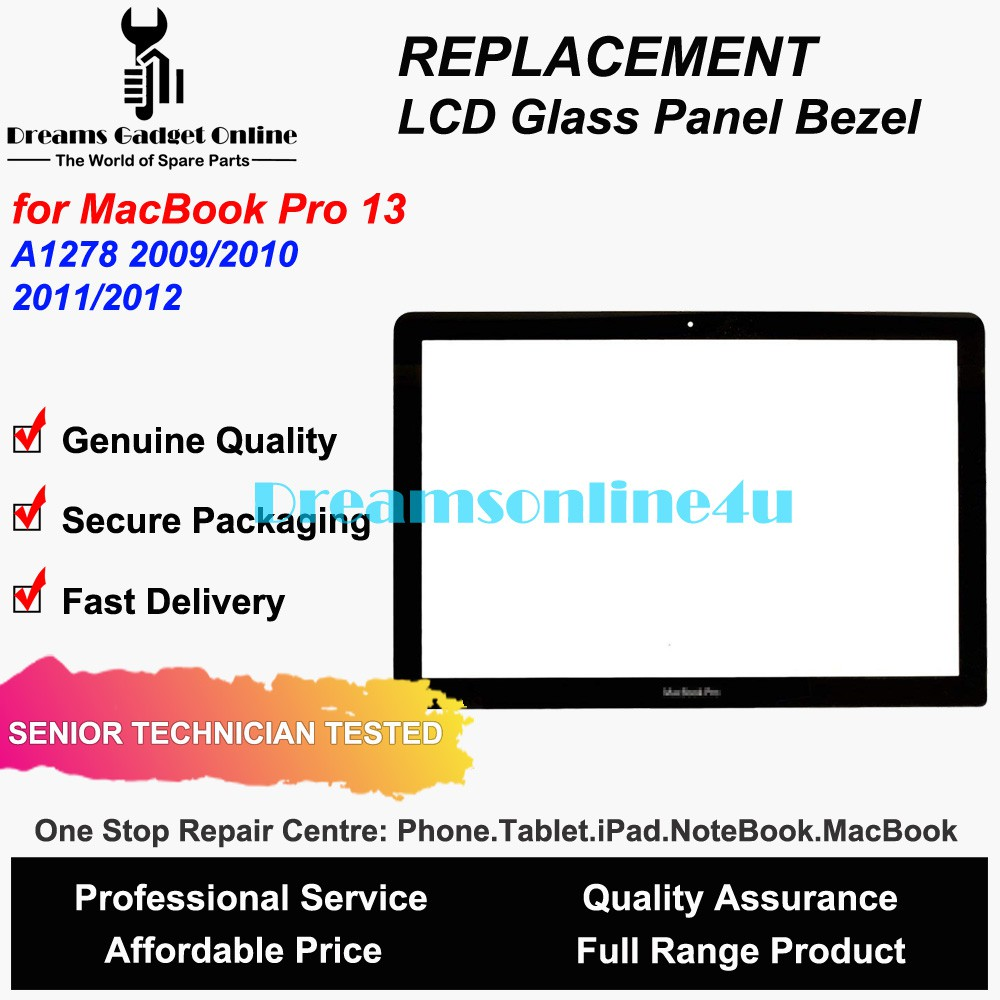 "NEW Apple MacBook PRO 13/"" A1278 A1342 LCD SCREEN COVER GLASS 2009 2010 2011 2012"