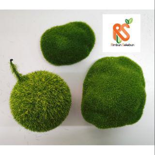 Artificial Fake Green Garden Moss Lumut Hijau Tiruan Shopee Malaysia