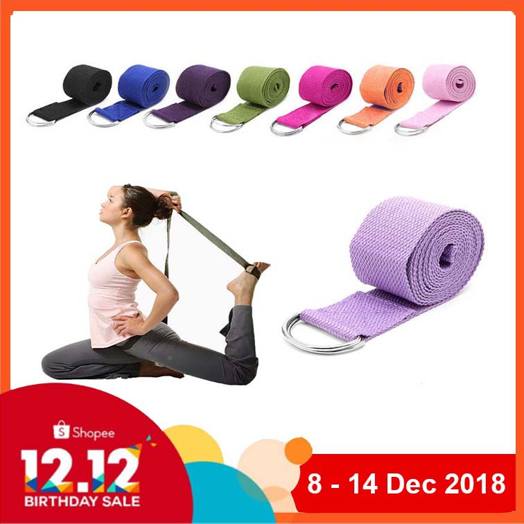 0f9f042f81 Yoga Belt D-Ring Strap for Home Exercise Stretching 183CM / 250CM / 360CM |  Shopee Malaysia