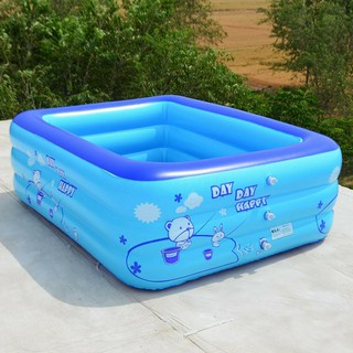 150x110x50cm Family Swimming Pool Garden Outdoor Summer Inflatable Paddling Pool