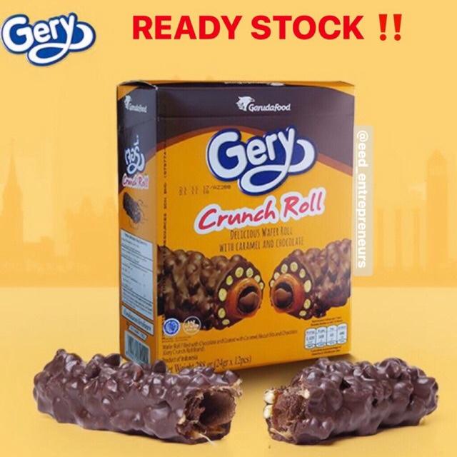 [TNY] Gery Crunch Roll   Gery Crunchroll   Wafer Roll with Caramel and Choco Cream (Halal)