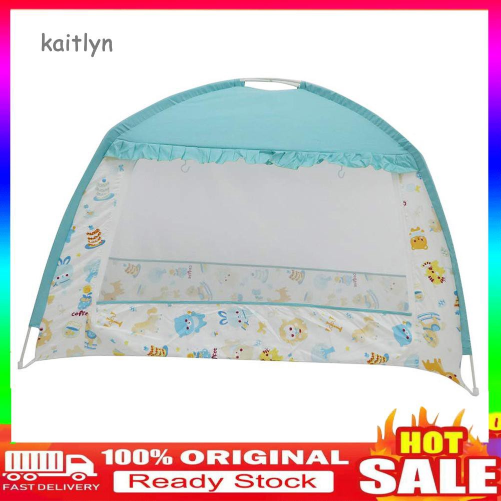 Baby Crib Tent Zip-up Mosquito Net Bed Canopy for Toddler Infant Nursery Travel Play Tent Mesh Playpen Safety Cot Bedding Folding 65 x 120 cm