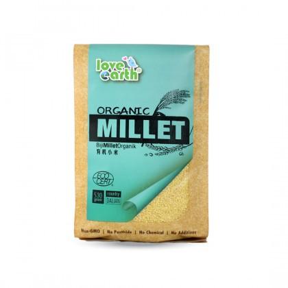 Love Earth Organic Hulled Millet 530g 乐儿有机小米 530公克 (袋装)