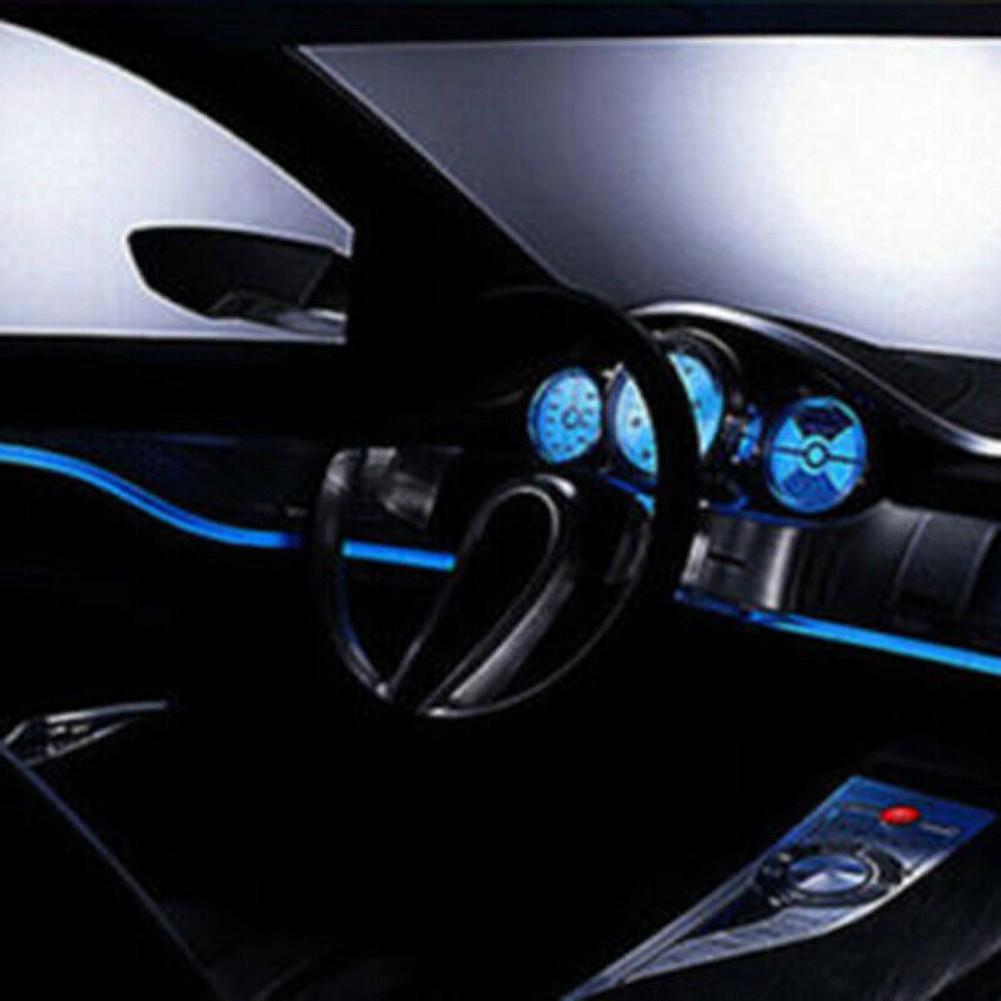 4m Optical Fiber Light Car Interior Decorative Lamp Dash Trim Moulding LED Strip