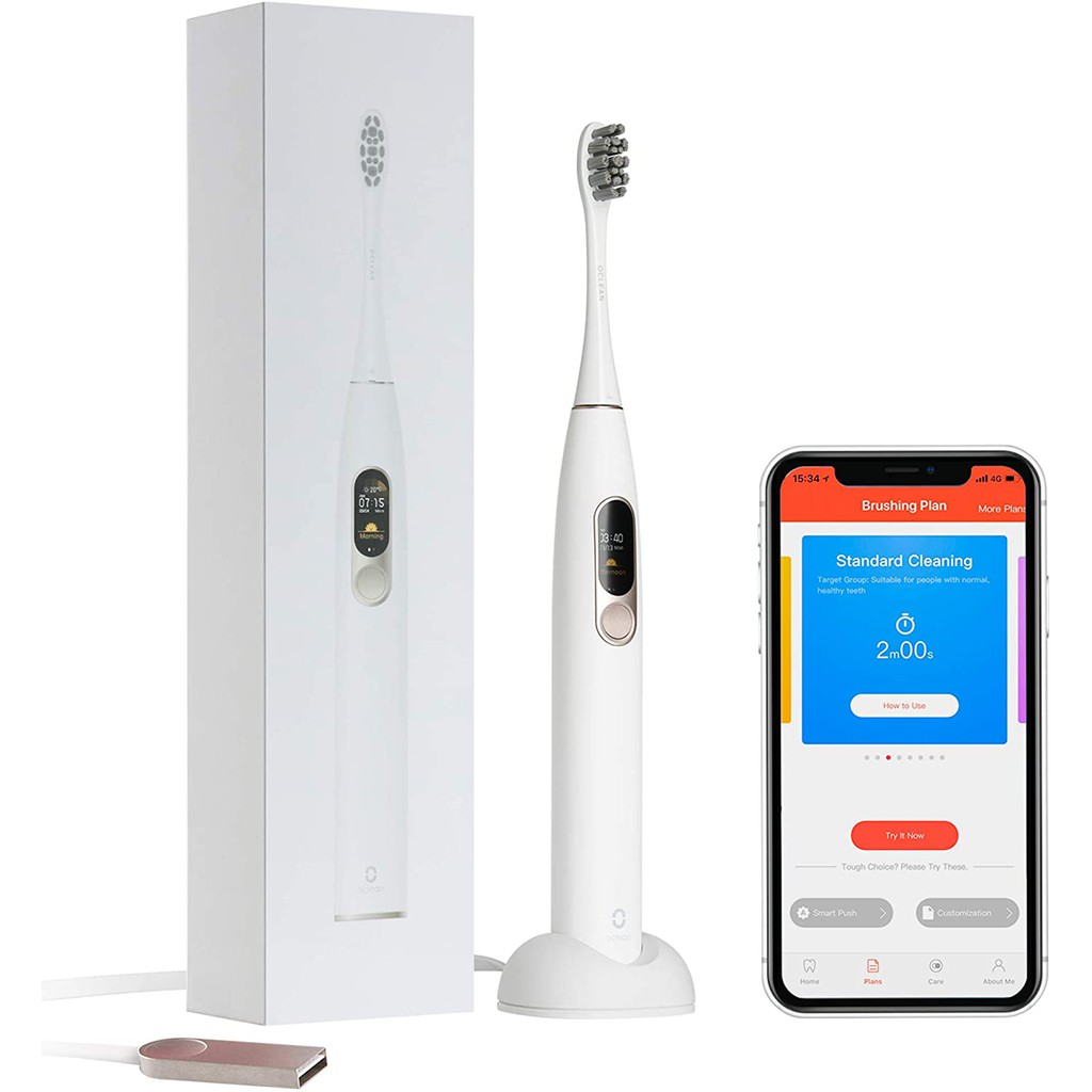 Xiaomi Oclean X Sonic Electric Toothbrush with LCD Touch Screen (40,000 VPM Powerful Cleaning)