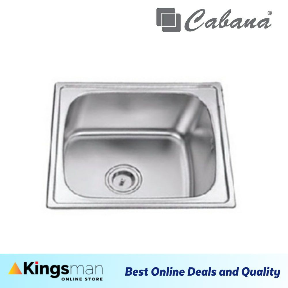 [Kingsman] Cabana Top Mount Stainless Steel Home Living Kitchen Sink Single Bowl Ready Stock - CKS4539