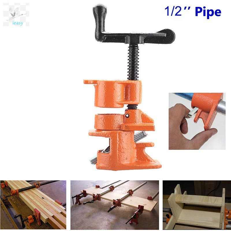Heavy Duty Wood Gluing Pipe Clamp Set Cast Iron Woodworking Carpenter Tool KY