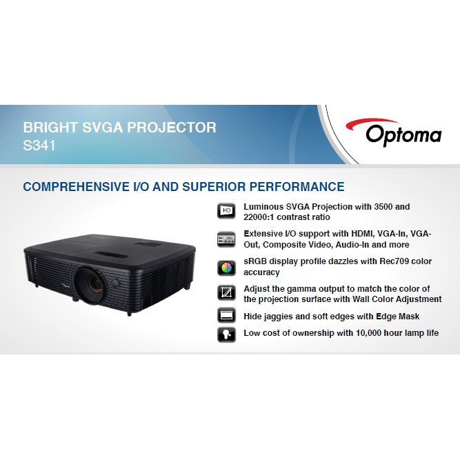 S341 OPTOMA PROJECTOR 3500 ANSI