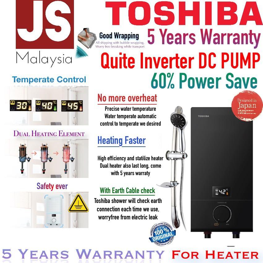Toshiba DC Inverter Pump Water Heater DSK38ES3 5Yrs Heater & Pump Warranty