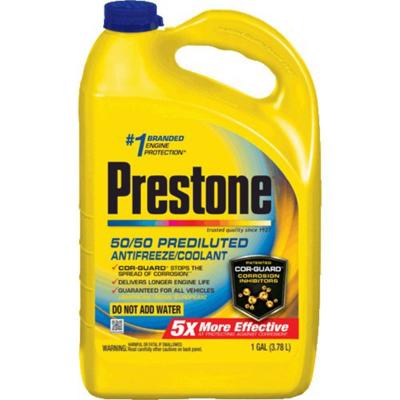 Free DELIVERY - E M   PRESTONE US ANTIFREEZE / COOLANT (EXTENDED LIFE) PREMIX / READY TO USE - 1 Gallon