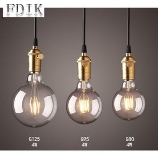 Led Filament Lamp G80 G95 G125 E27 Vintage Edison Bulb Light 2w 4w 6w 8w