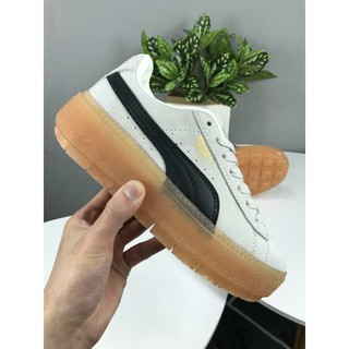 detailed pictures 12374 f254d Ready Stock Authentic Puma Platform Trace L Wn's Thick-soled Platform Shoes  White