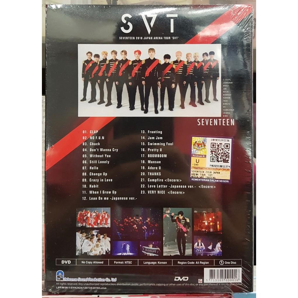 SEVENTEEN 2018 JAPAN ARENA TOUR 'SVT' DVD   Shopee Malaysia