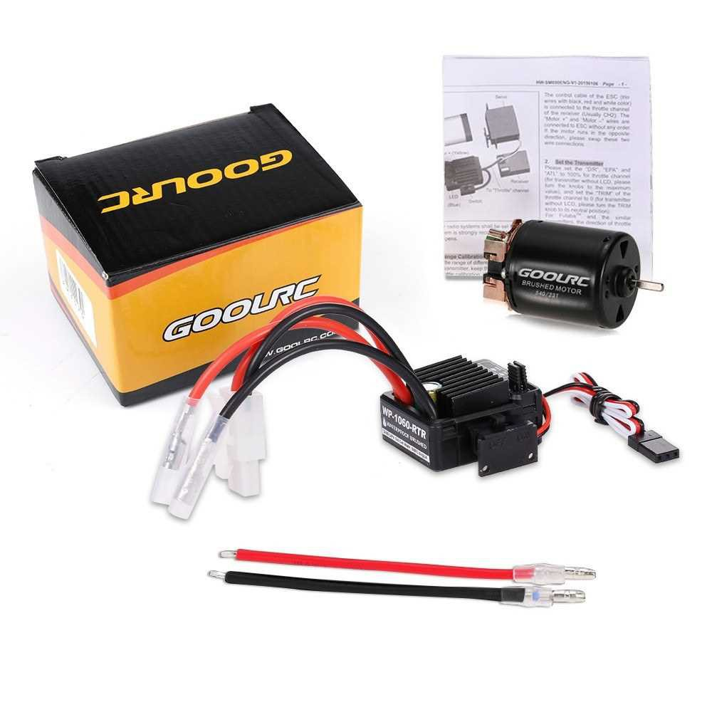 GoolRC 540 23T Brushed Motor with 60A ESC Combo for 1/10 On-road Drift Touring RC Car (Multicolor)