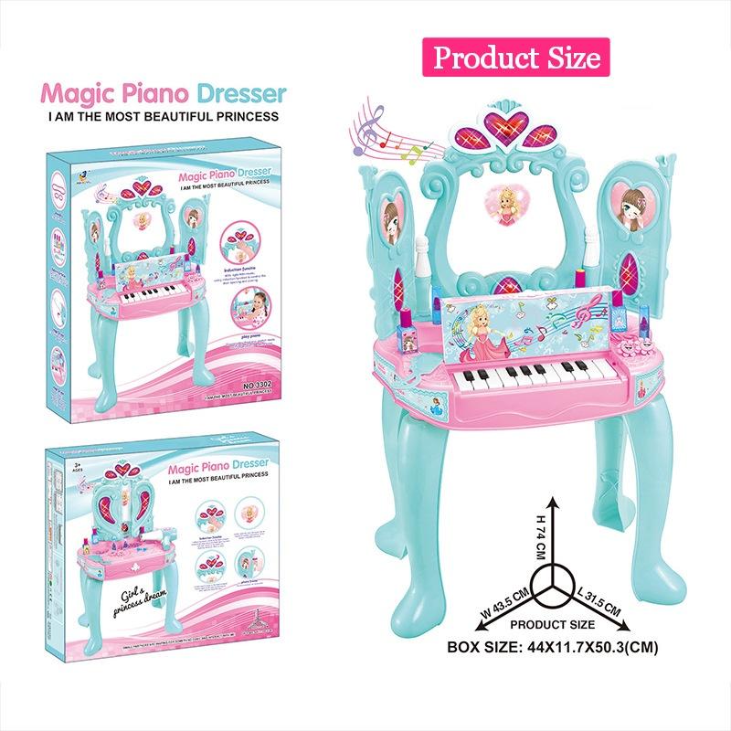 [ READY STOCK ]  65 Key Kid Baby Piano Toy Electronic Keyboard Piano Light Microphone Learning Jualan Murah Budak Mainan