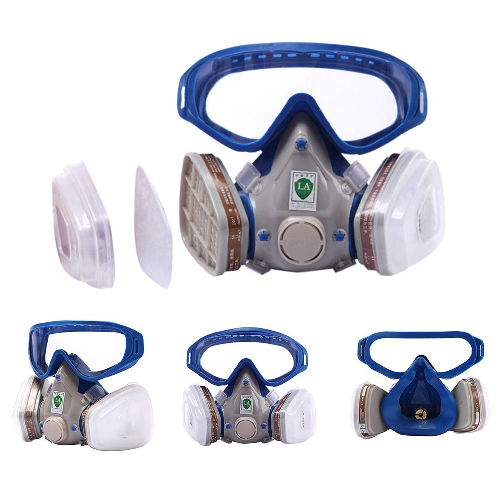 1db77c17bb0 Silicone Full Face Respirator Gas Mask Goggles Particulate Chemical  Dustproof