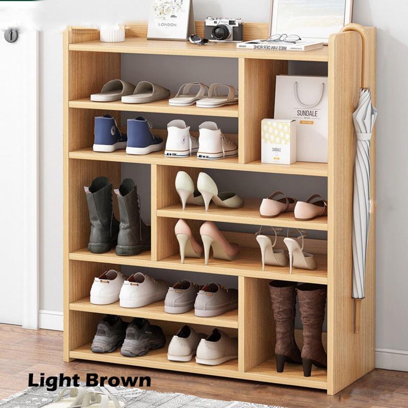 GDeal Home Multilayer Simple Shoe Rack Space Saving Shoe Shelf Wooden Shoe Rack 80CM