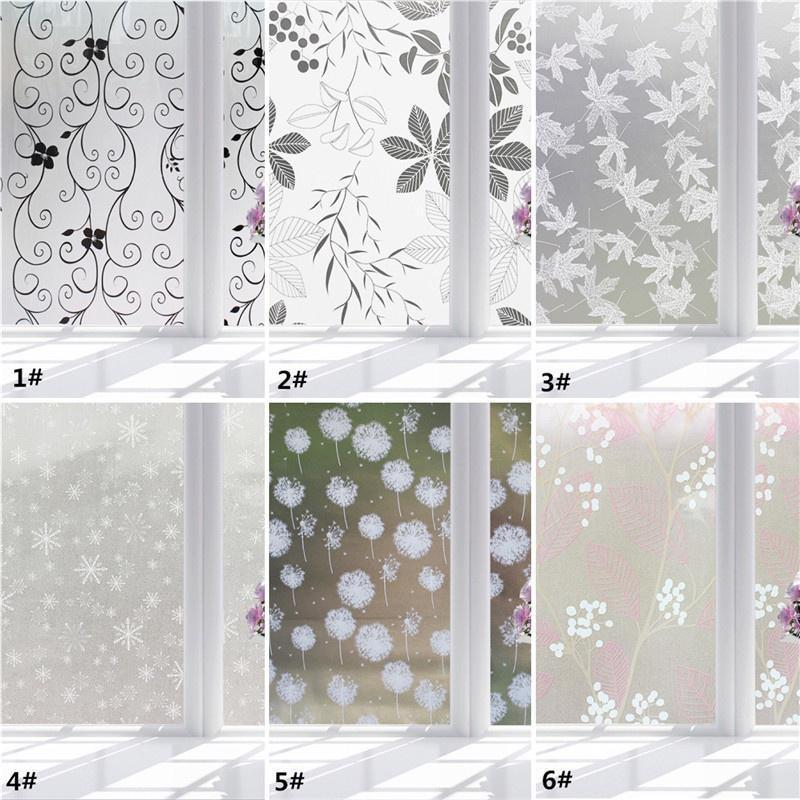 WR/_ 1 ROLL FROSTED GLASS FILM STATIC CLING OFFICE BATHROOM HOME WINDOW PRIVACY S
