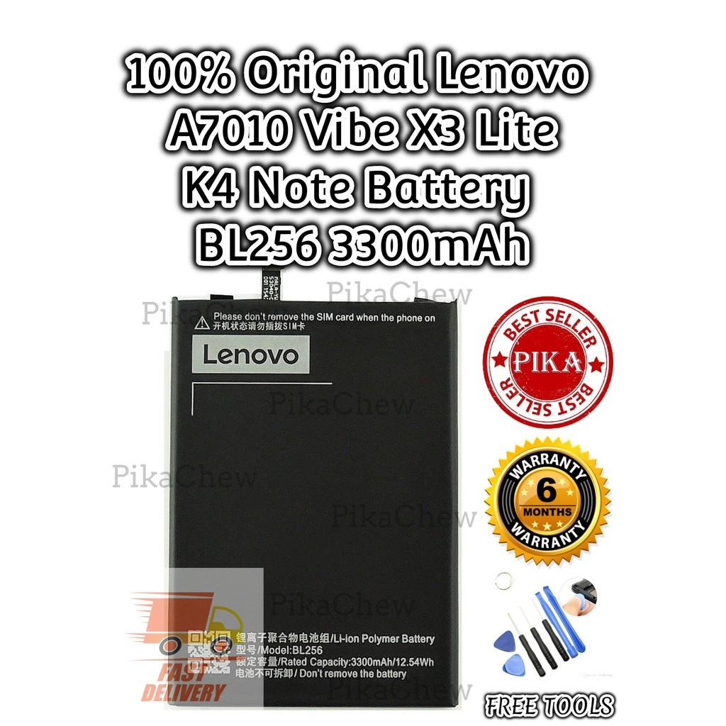 『PIKA』100% Original Lenovo A7010 Battery | Lenovo Vibe X3 Lite Battery |  Lenovo K4 Note Battery | BL256 Battery(3300mAh)