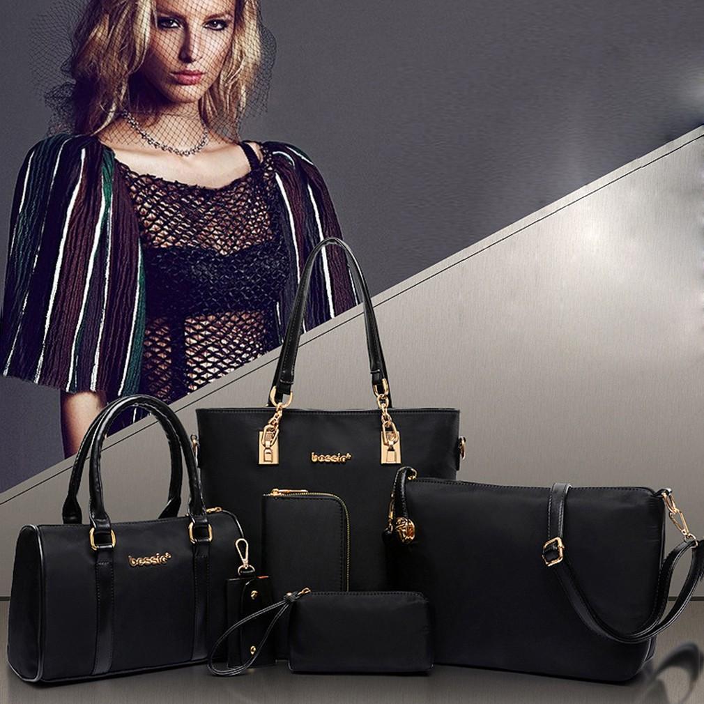 NL 6 Pcs Women Handbag Leisure Shoulder Bag Messenger Satchel Purse